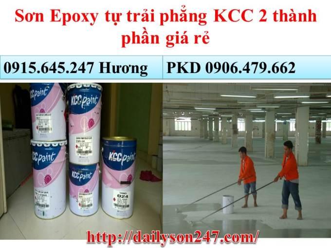 Sơn Epoxy tự trải phẳng KCC 2 thành.jpg